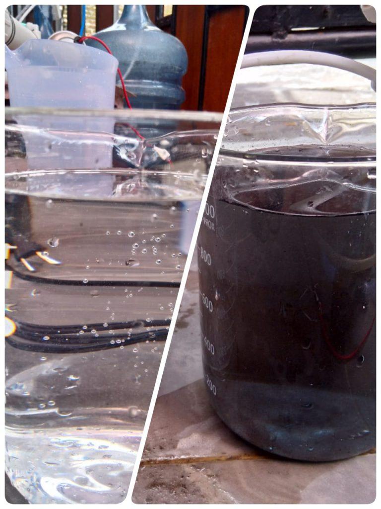 humic acid filtration @Sleman, DIY