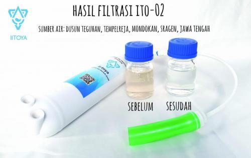Filtrasi ITO-01 Untuk Sampel Air Dusun Teguhan @Sragen